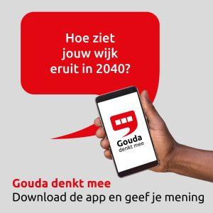 Gouda Denkt Mee app