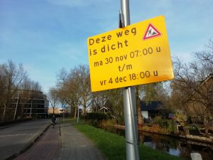 wegafsluiting Dijkgraafslag.