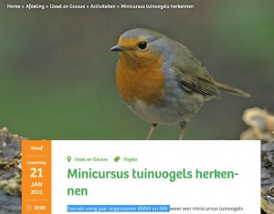 minicursus tuinvogeltelling