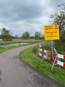 fietspad Goudse Hout tijdens asfalteringswerkzaamheden tijdelijk dicht