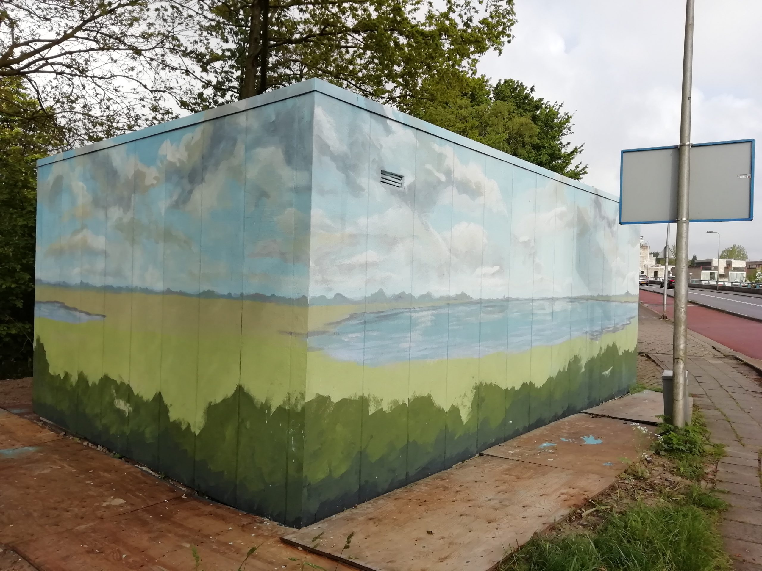 onderschildering Tennet huisje